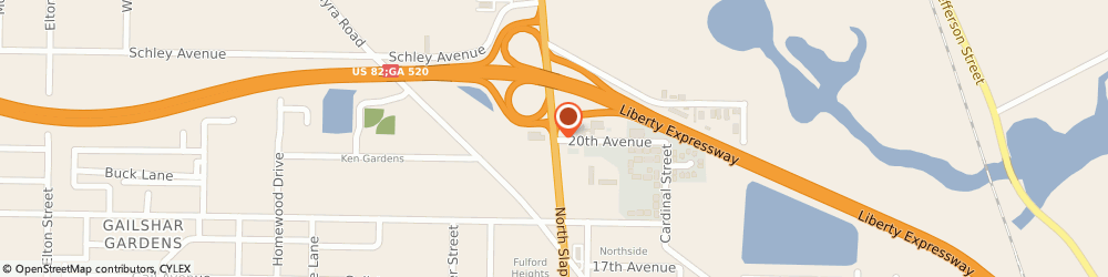 Route/map/directions to U-Haul Co., 31701 Albany, 2602 N SLAPPEY BLVD