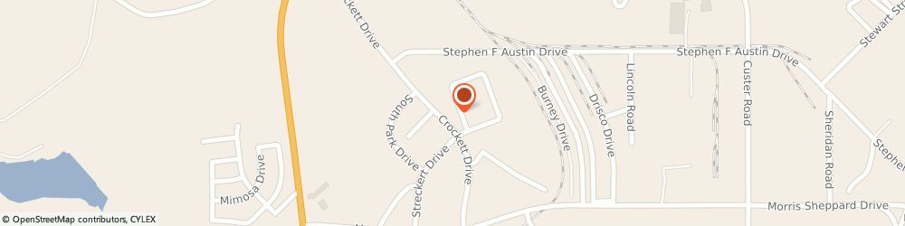 Route/map/directions to Dale E Wheelis DDS Inc, 76801 Brownwood, 2512 Crockett Dr.