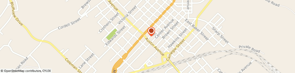 Route/map/directions to CITIBANK ATM, 76801 Brownwood, 206 W. Austin Ave.
