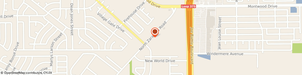 Route/map/directions to Cold Stone, 79936 El Paso, 1830 N Zaragoza Rd, Ste 112
