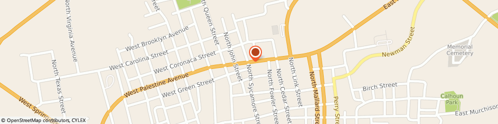 Route/map/directions to H&r Block, 75801 Palestine, 118 E PALESTINE AVE