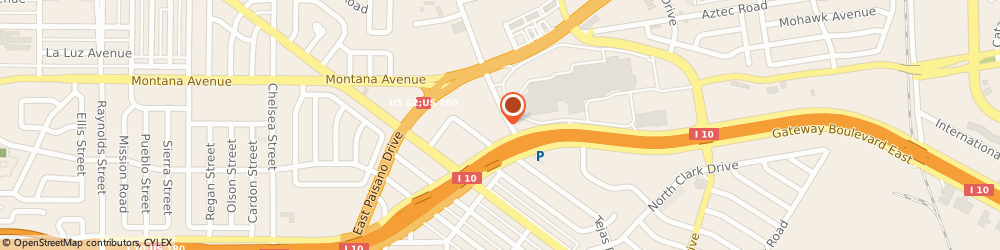 Route/map/directions to Farmers Insurance - Patricia Campa, 79925 El Paso, 5959 Gateway Blvd W