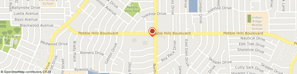 Route/map/directions to Baskin-Robbins, 79935 El Paso, 10790 Pebble Hills Dr