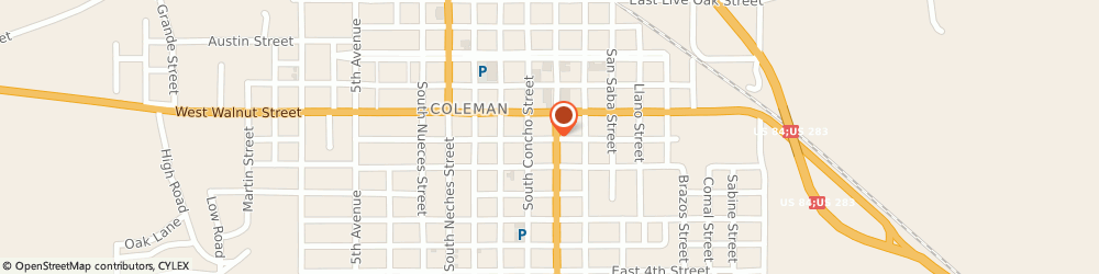 Route/map/directions to Citibank, 76834 Coleman, 516 Commercial