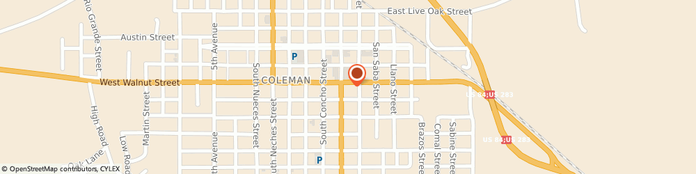 Route/map/directions to Navy Federal Credit Union ATM, 76834 Coleman, 501 S Commercial Ave