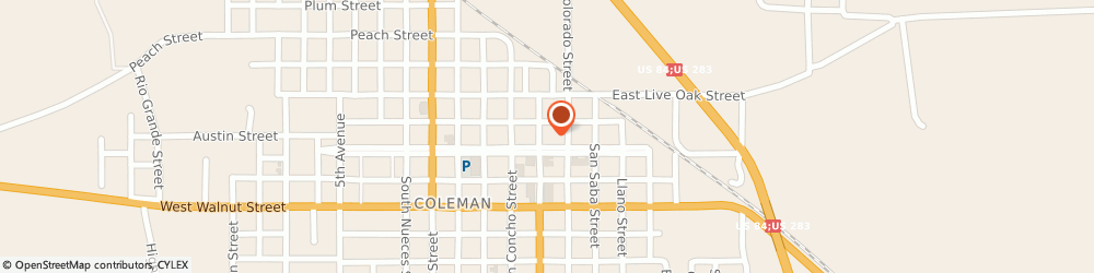 Route/map/directions to Countywide Insurance Agency, 76834 Coleman, 211 Commercial Avenue