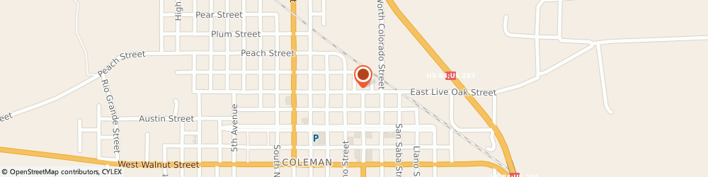 Route/map/directions to Security Finance, 76834 Coleman, 117 WEST ST