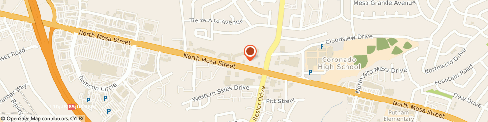 Route/map/directions to Cold Stone Creamery, 79912 El Paso, 7040 N Mesa St
