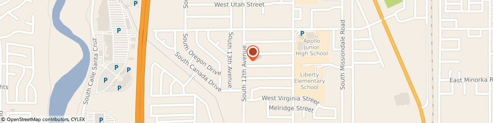 Route/map/directions to Farmers Insurance - Raul Gil-Acosta, 85706 Tucson, 5425 S 12th Ave