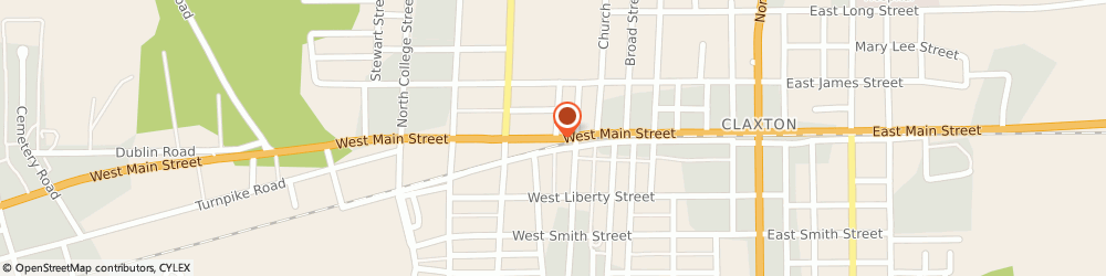Route/map/directions to Ace Hardware & Rental, 30417 Claxton, 501 W MAIN ST