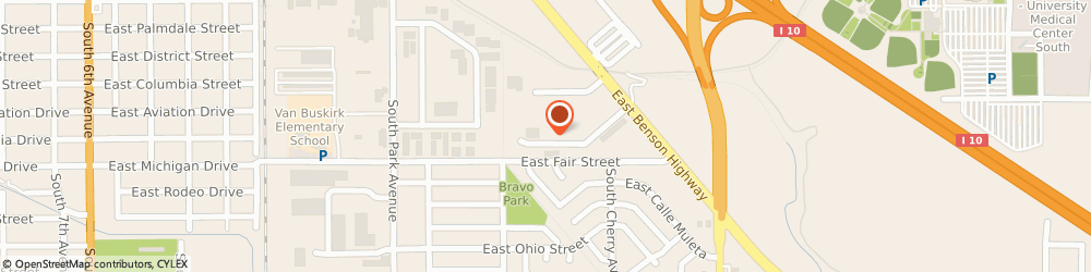 Route/map/directions to Amec - Earth & Environmental, 85714 Tucson, 1425 EAST APACHE PARK PLACE