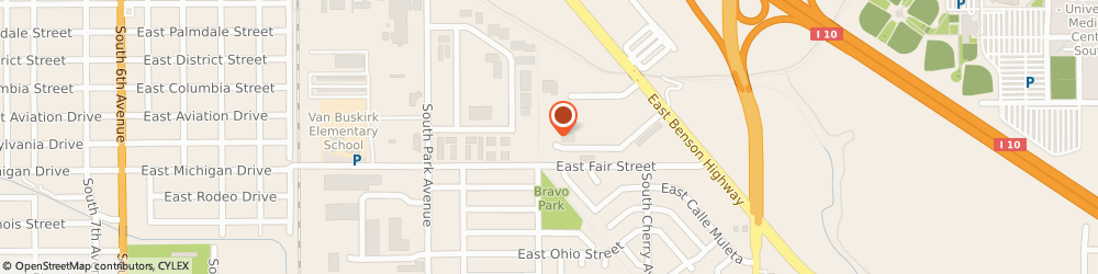 Route/map/directions to Industrial Power Testing LLC, 85714 Tucson, 1301 East Apache Park Place
