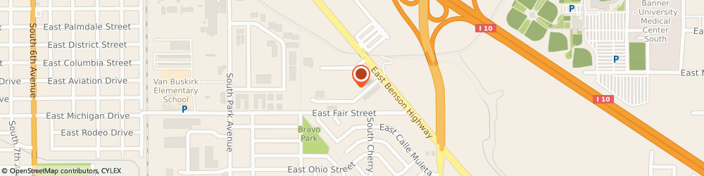 Route/map/directions to Arizona Electrical Apparatus, 85714 Tucson, 1555 East Apache Park Place