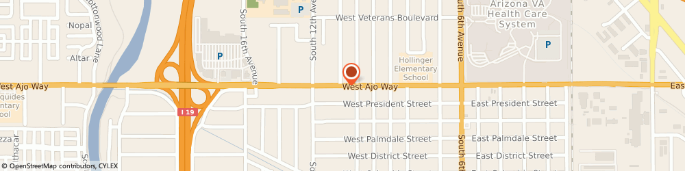 Route/map/directions to Saenz and Associates, 85713 Tucson, 425 WEST AJO WAY