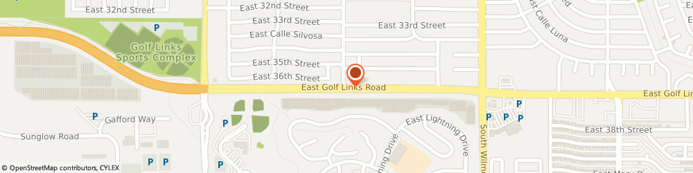 Route/map/directions to Sunset Vista Apartments Inc, 85711 Tucson, 5909 East Golf links Road