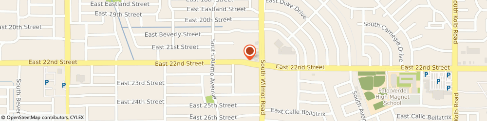 Route/map/directions to Torrez, John L CPA, 85711 Tucson, 6112 E 22nd St