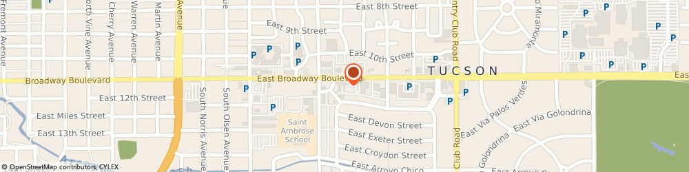 Route/map/directions to Anaya & Assoc Inc, 85716 Tucson, 2610 E BROADWAY BLVD