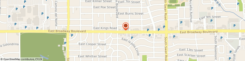 Route/map/directions to American Family Insurance, Kristi Frank Agency, Inc., 85711 Tucson, 4319 E Broadway Blvd