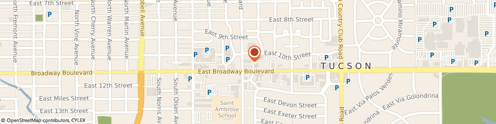 Route/map/directions to Farmers Insurance - Saul Salinas, 85716 Tucson, 2525 E Broadway Blvd