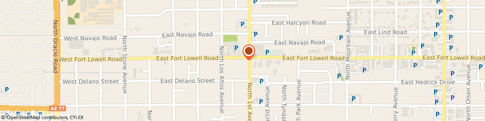 Route/map/directions to National Insurance Centers, 85705 Tucson, 640 E Fort Lowell Rd