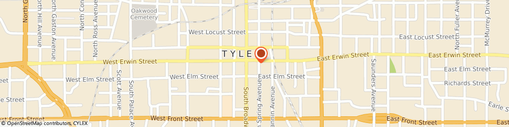 Route/map/directions to Don Juan Mexican Restaurant, 75702 Tyler, 113 EAST ERWIN STREET