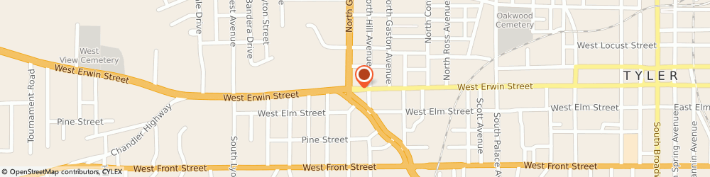 Route/map/directions to Moocho Burrito, 75702 Tyler, 200 W Erwin St