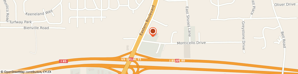 Route/map/directions to Motel 6 Montgomery - East, 36117 Montgomery, 1051 Eastern Blvd
