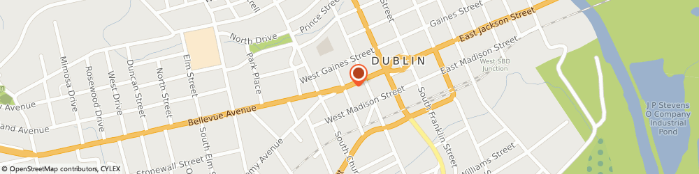 Route/map/directions to Maytag Retailer, 31021 Dublin, 224 West Jackson Street
