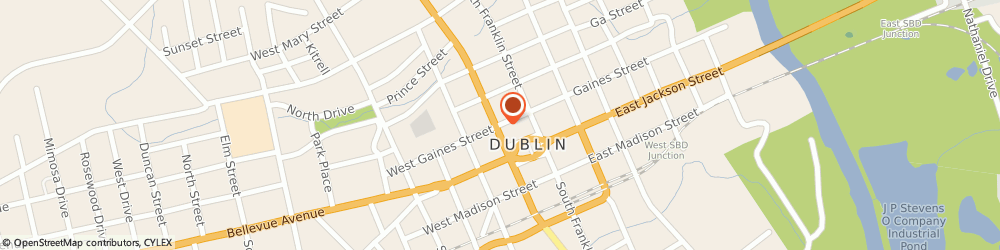 Route/map/directions to Pitts Pontiac-Buick, 31021 Dublin, 111 EAST GAINES STREET