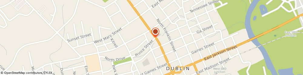 Route/map/directions to Advance Auto Parts, 31021 Dublin, 111 Prince Street