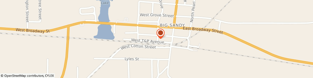 Route/map/directions to Big Sandy, 75755 Big Sandy, STREET
