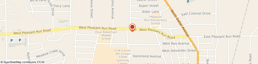 Route/map/directions to Citibank ATM, 75146 Lancaster, 640 W Pleasant Run