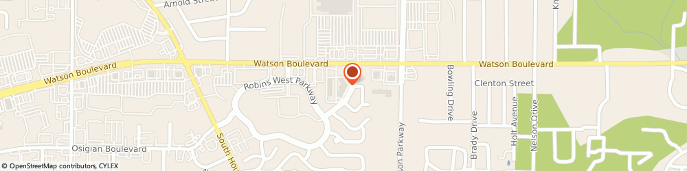 Route/map/directions to Comfort Inn Warner Robins - Robins Air Force Base Area, 31093 Warner Robins, 2725 Watson Blvd