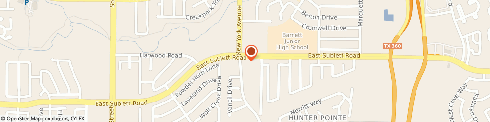 Route/map/directions to Citibank ATM, 76018 Arlington, 1900 E Sublett Rd