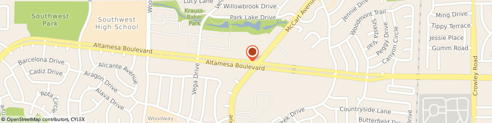 Route/map/directions to La Fitness, 76133 Fort Worth, 3524 ALTAMESA BLVD