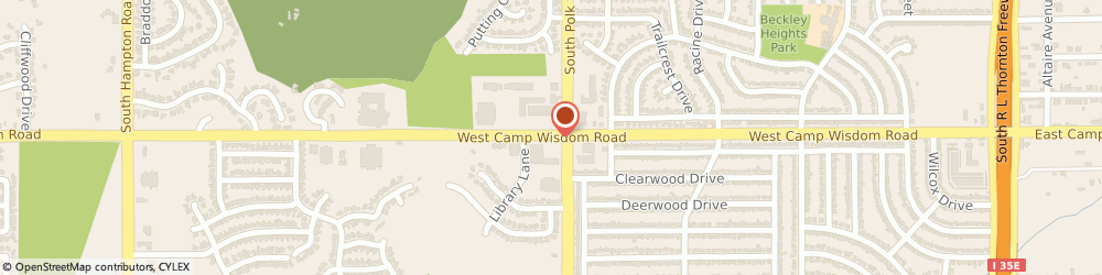 Route/map/directions to Jackson Hewitt Tax Service, 75232 Dallas, 1134 W. CAMP WISDOM RD