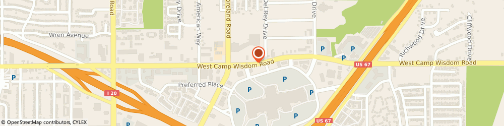 Route/map/directions to Jackson Hewitt Tax Service, 75237 Dallas, 3707 W. CAMP WISDOM ROAD