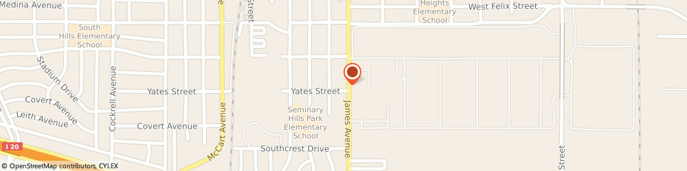 Route/map/directions to Kent Robert Appliance Sales & Service, 76115 Fort Worth, 4944 JAMES AVENUE