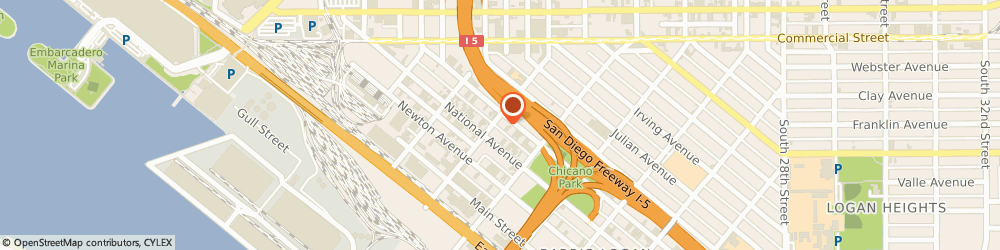 Route/map/directions to Travelodge San Diego, 92113 San Diego, 1801 Logan Avenue