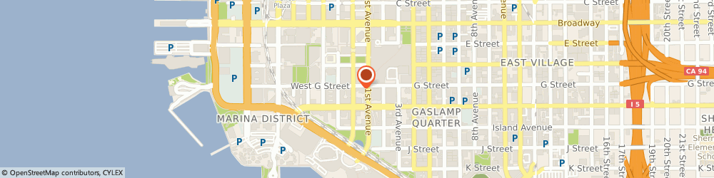 Route/map/directions to PostalAnnex+, 92101 San Diego, 113 West G St