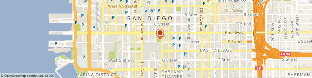 Route/map/directions to Citibank (West), Fsb, 92101 San Diego, 755 Broadway Circle