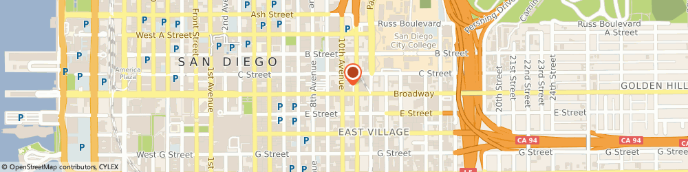 Route/map/directions to Banks Photo International, 92101 San Diego, 1023 10TH AVE