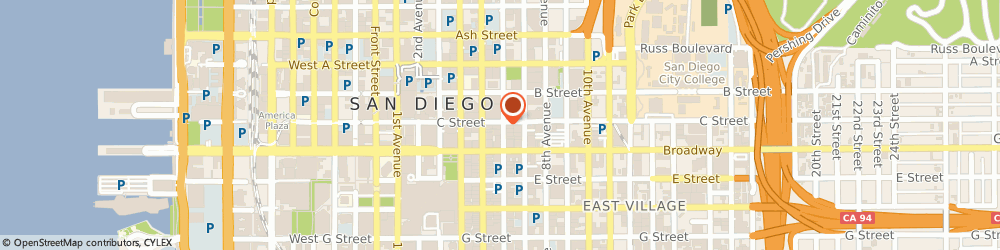 Route/map/directions to 7-Eleven, 92101 San Diego, 525 C Street