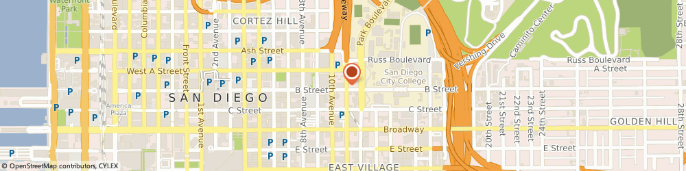 Route/map/directions to Burger King, 92101 San Diego, 1210 11th Ave