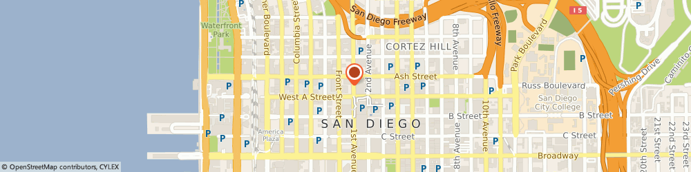 Route/map/directions to STATE FARM Tony Gormican, 92101 San Diego, 110 West A Street, Suite 775