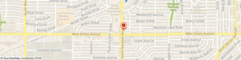 Route/map/directions to Jackson Hewitt Tax Service, 75224 Dallas, 2513 S. HAMPTON ROAD