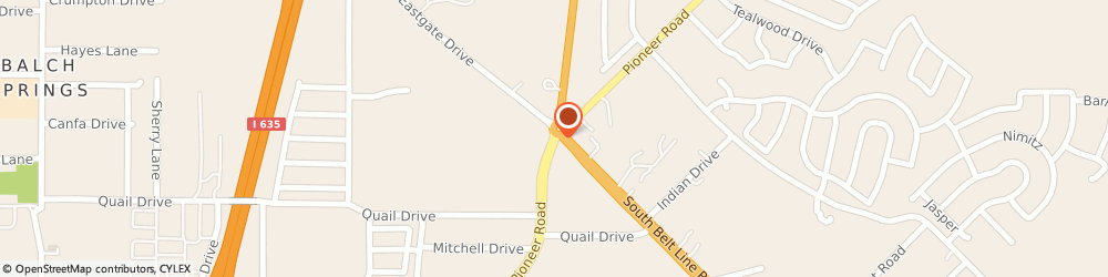 Route/map/directions to Marco's Restaurant, 75180 Balch Springs, 3612 Pioneer Rd