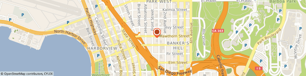 Route/map/directions to Hertz Car Rental Downtown San Diego Hle, 92101 San Diego, 1350 6Th Avenue