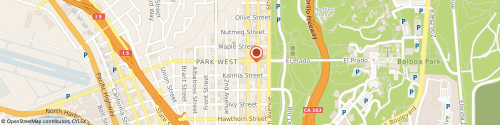 Route/map/directions to PostalAnnex+, 92101 San Diego, 415 Laurel St