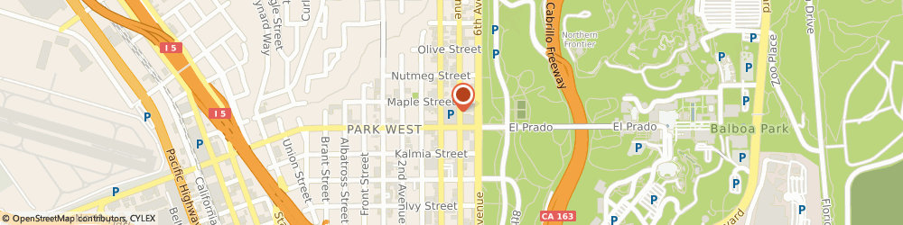 Route/map/directions to STATE FARM R J Blake, 92103 San Diego, 2550 5th Ave #617